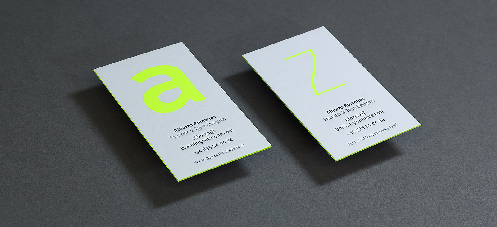 A to Z business cards – BwType News