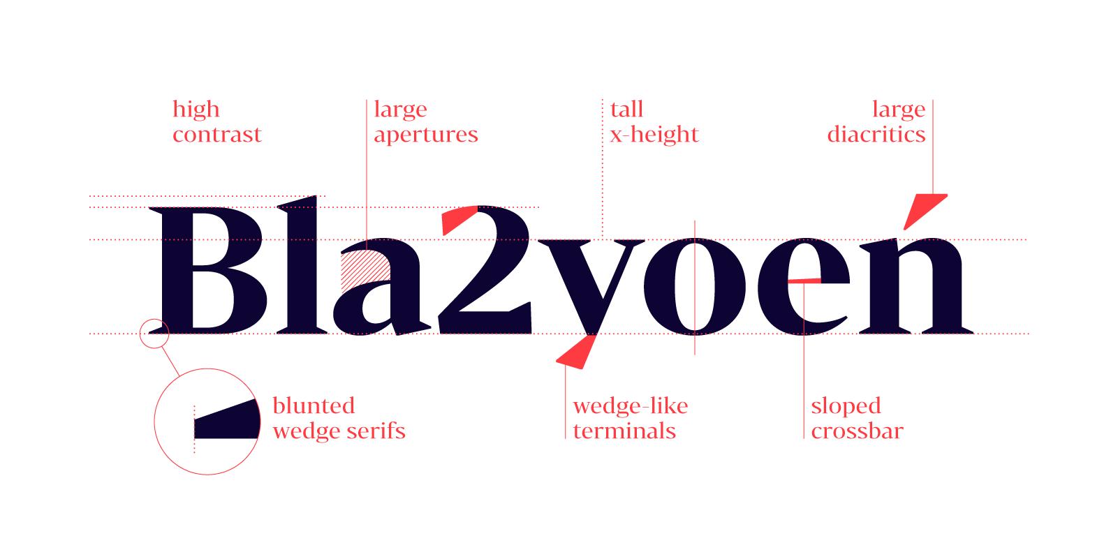 Bw Darius wedge serif font