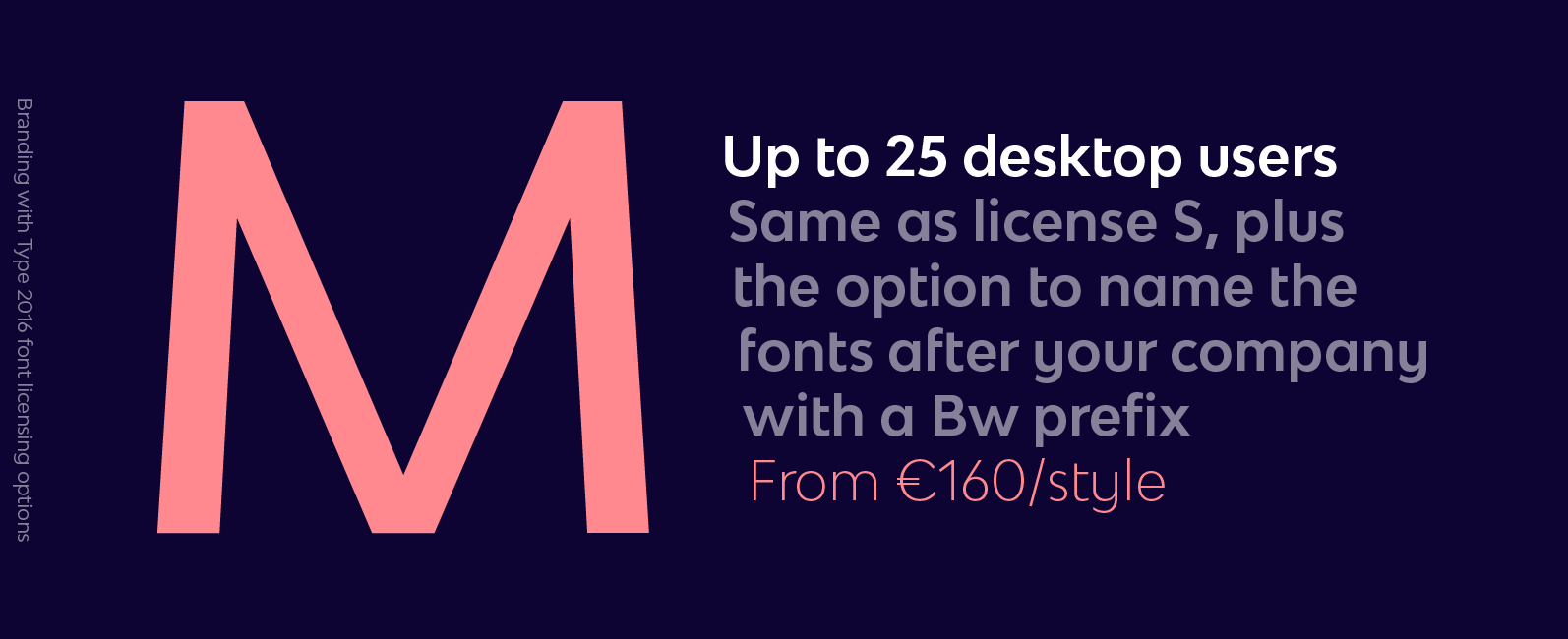 Branding with Type M license