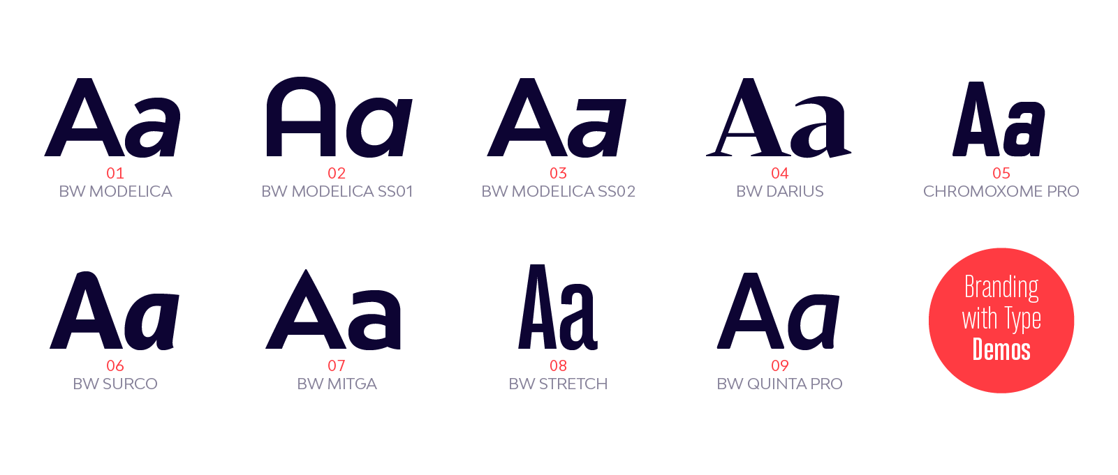 Free demo fonts