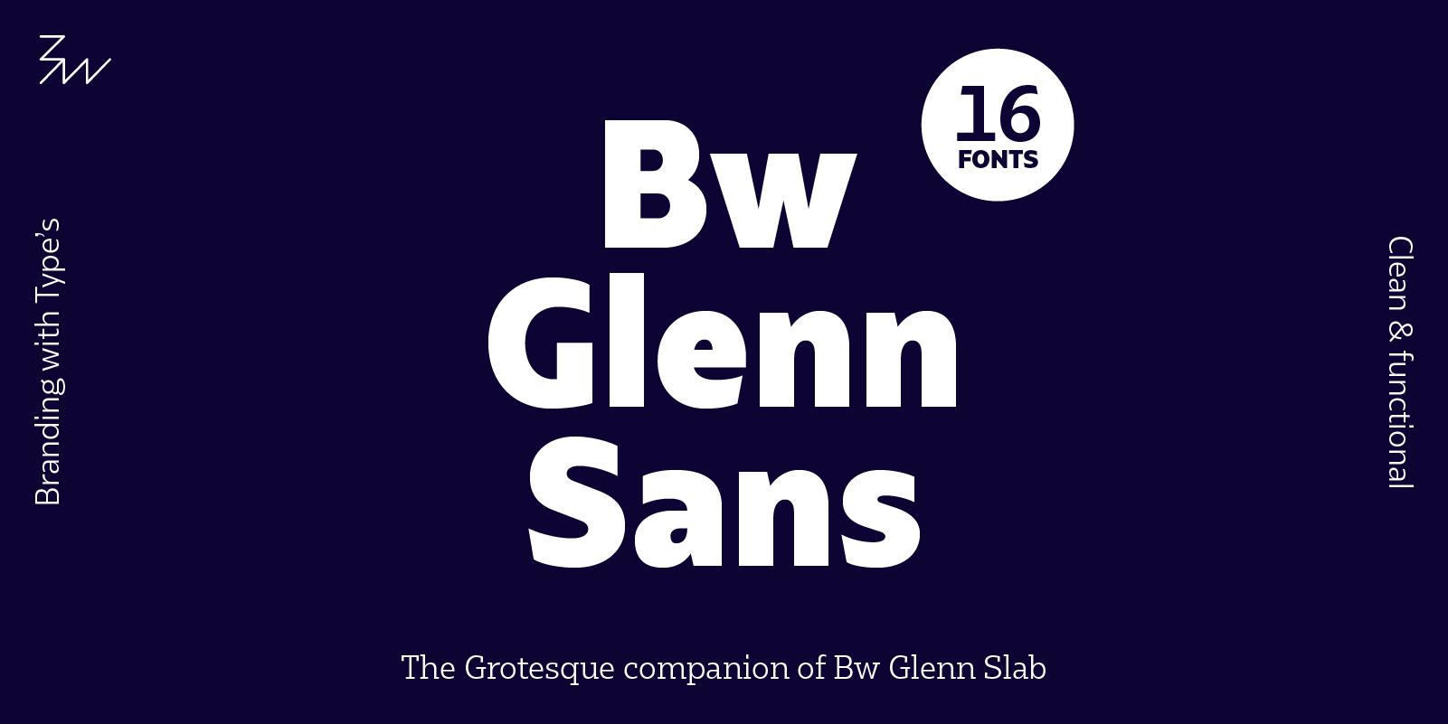 Bw Glenn Sans typeface