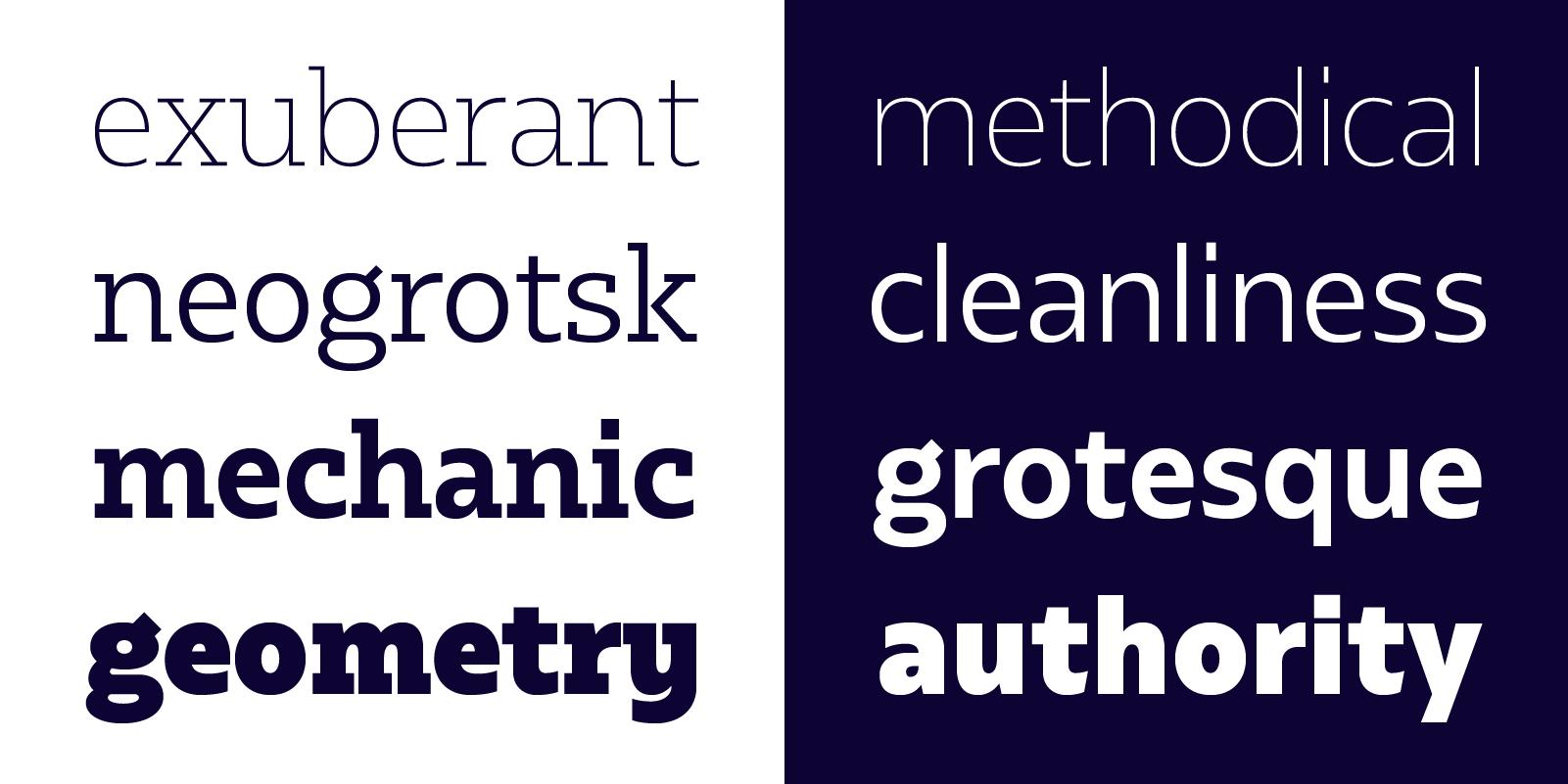 Bw Glenn Slab & Bw Glenn Sans typefaces