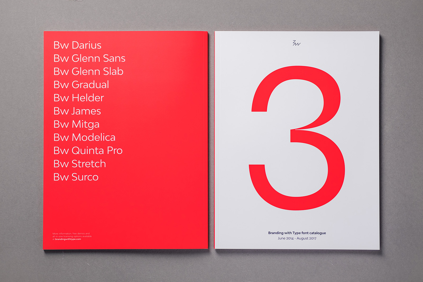 Branding with Type font catalogue